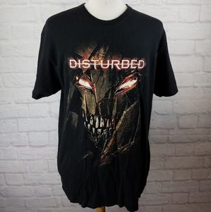 Disturbed Metal Band Graphic Print T-Shirt